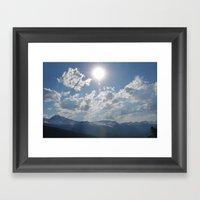 Shine Down Framed Art Print