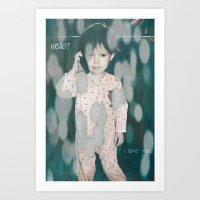 Hello?  I Love You. Art Print