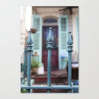 French Quarter Gate Canvas Print