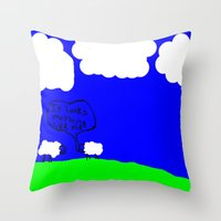 Watching The Clouds Go B… Throw Pillow