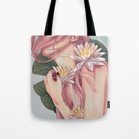 And She Loved Lillies Tote Bag