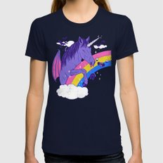 Vampcorn Womens Fitted Tee Navy SMALL