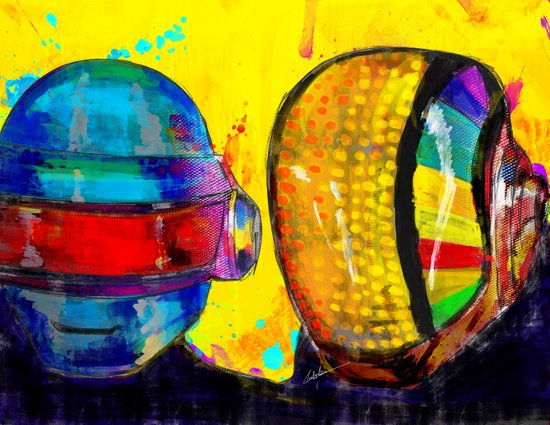 Daft Punk Canvas Print