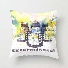 Daleks From Doctor Who Throw Pillow