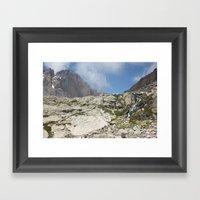 Trickles Of Chasm Lake Framed Art Print