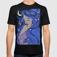 Moon Goddess Mens Fitted Tee Tri-Black SMALL