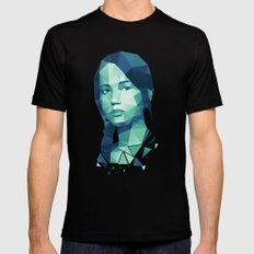 Katniss Everdeen Black Mens Fitted Tee SMALL