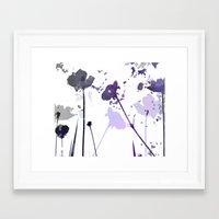 Field of Flowers Indigo Framed Art Print