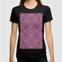 Ab Lace Pink Womens Fitted Tee Tri-Black SMALL
