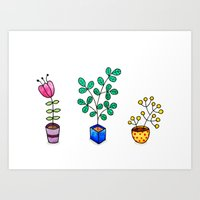 Flower pots Art Print