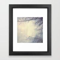 Creepy Trees Polaroid Framed Art Print