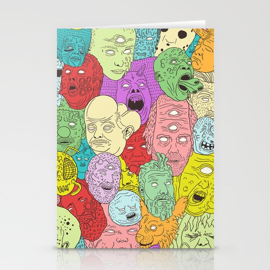 Faces of Math Stationery Card