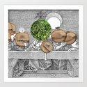 Duerer Last Communion Collage Art Print