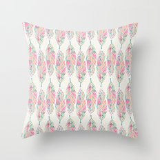 Tribal Feathers Girly Pi… Throw Pillow