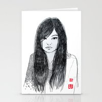 Stationery Card featuring DanDan by RAIKO IVAN雷虎