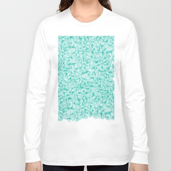Abstract pattern turquoise long sleeve t shirt by cat for Women s turquoise long sleeve shirt