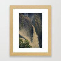 Barron Falls in retro style Framed Art Print