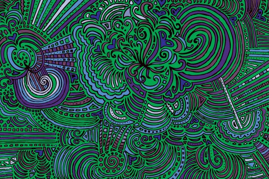 Drawing Meditation - Green Art Print