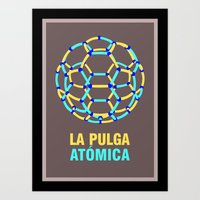 Lionel Messi – The 'Atomic' Flea Art Print