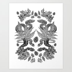 Serpent's Choir Art Print