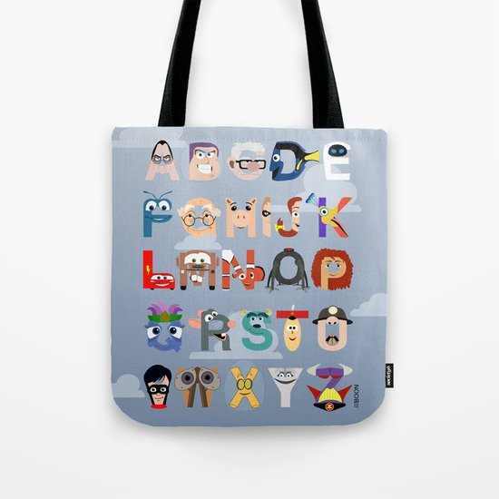 P is for Pixar (Pixar Alphabet) Tote Bag