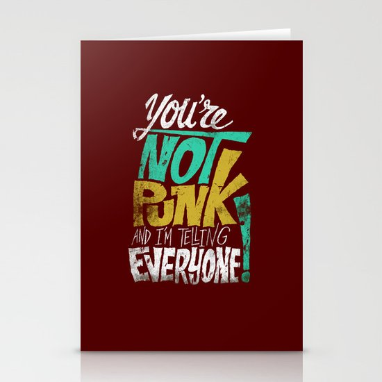 Not Punk Stationery Card