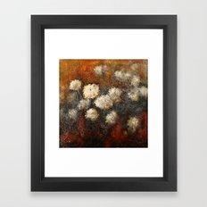 Golden Blossoms Framed Art Print