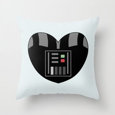 Darth Vader Character Heart Throw Pillow