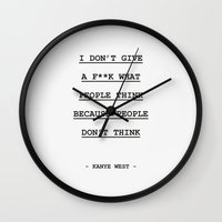 I DON' T GIVE A F**K WHAT PEOPLE THINK Wall Clock