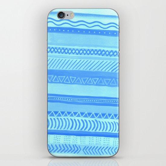 Tribal#1 (Blue) iPhone & iPod Skin