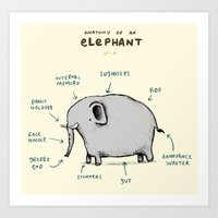 Anatomy of an Elephant Art Print