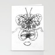 Butterfly With A Man Ins… Stationery Cards
