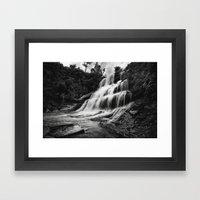 Kintampo waterfall Framed Art Print