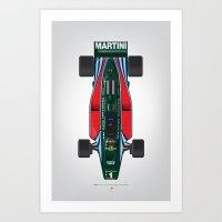 Outline Series N.º2, Mario Andretti, Lotus 80-Ford 1980 Art Print