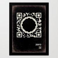 QR zero Art Print