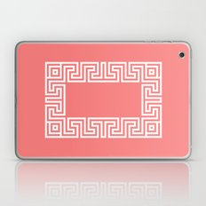 Greek Key coral Laptop & iPad Skin