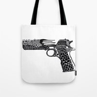 Flower Gun  Tote Bag