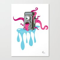 Monster Camera Canvas Print
