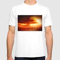 Sunrise In The Sea Mens Fitted Tee White SMALL
