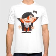 Dracula Kid Mens Fitted Tee White SMALL