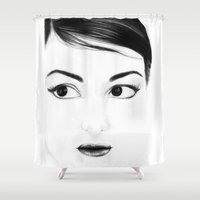 pretty face Shower Curtain