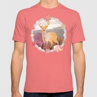 FLORA & FAUNA Mens Fitted Tee Pomegranate SMALL