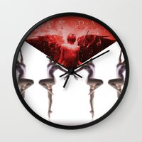 envelope bloody ballet Wall Clock