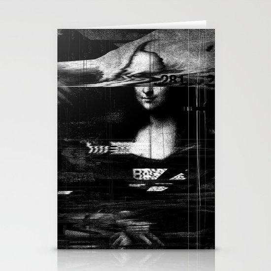 Mona Lisa Glitch Stationery Card