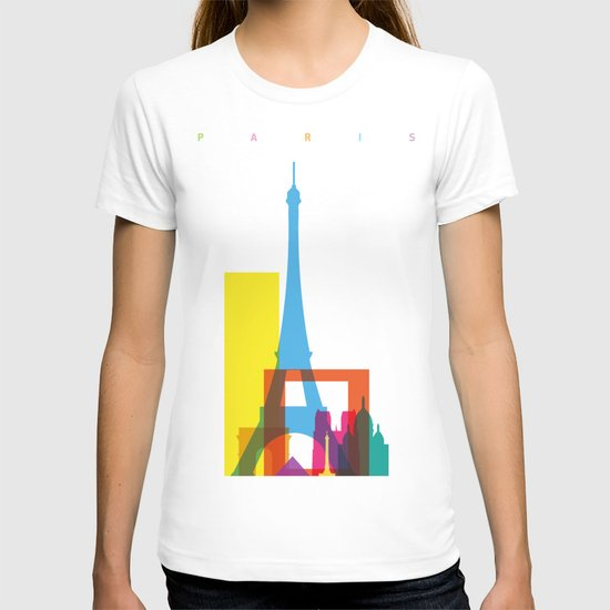 Shapes of Paris. Accurate to scale. T-shirt
