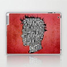 Typography Tyler Durden Uncensored Laptop & iPad Skin