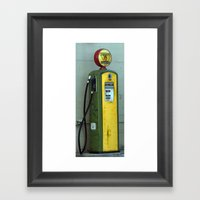 Gas Pump Framed Art Print