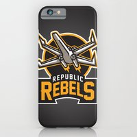 iPhone & iPod Case featuring Republic Rebels - Black by WanderingBert / David Creighton-Pester