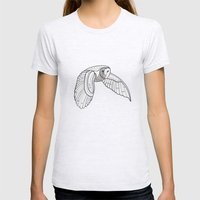 Owl Womens Fitted Tee Ash Grey SMALL