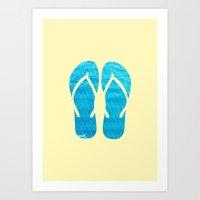 FLIP FLOP SUMMER Art Print